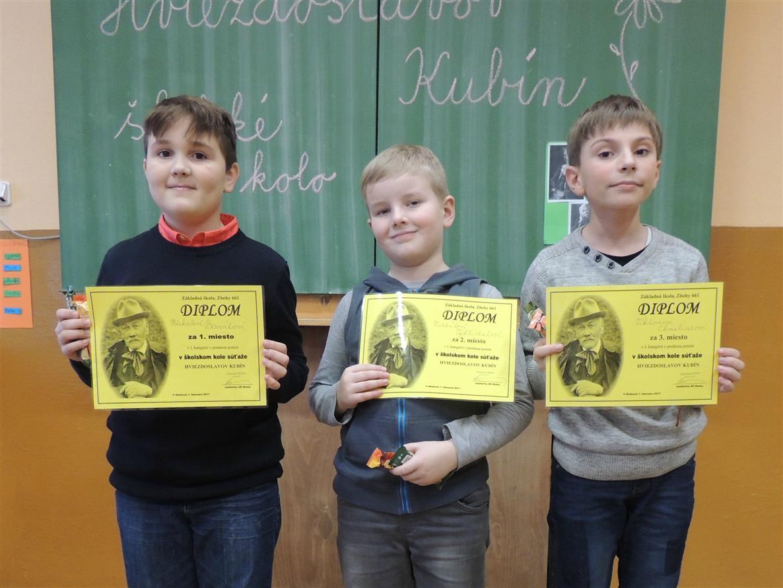 2cfff54c0 Hviezdoslavov Kubín - školské kolo: Základná škola, Zbehy 661